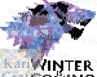 GOT Winter is Coming Color C2C Afghan PDF Pattern Graph + Written Instructions - Instant Download