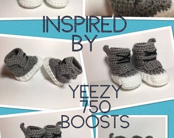 Crochet Yeezy Boost - Crochet fashion Booties