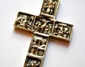 Vintage Brass Crucifix Jesus