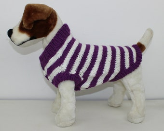 madmonkeyknits - Aran Stripe Dog Coat knitting pattern pdf download - Instant Digital File pdf knitting pattern