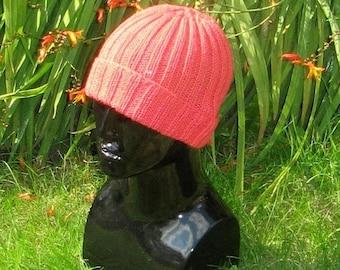 50% OFF SALE Instant Digital File pdf download knitting pattern-- 2 X 2 All rib beanie Hat pdf knitting pattern