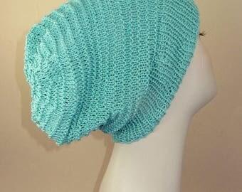 50% OFF SALE Instant Digital File PDF Download knitting patten - Simple Stripey Spring Slouch Hat pdf knitting pattern