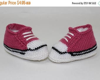 50% OFF SALE Instant Digital File pdf download knitting pattern -Easy Baby Basketball Booties and Sneakers