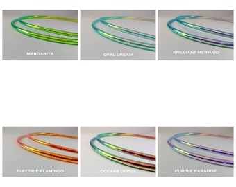 """5/8"""" Color Morph Polypro Double Minis - Twin Hula Hoops - Choice of Color"""