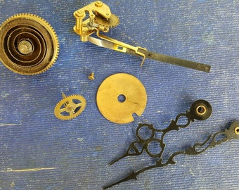 Seth Thomas Clock Parts Found In Old Watchmaker's Desk from Rustysecrets