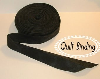 Traditional Quilt Binding -  Black Tone on Tone Stars