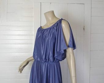 70s Lavender Goddess Dress- 1970s Disco / Formal / Studio 54- Small