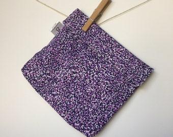 Reusable eco friendly washable Sandwich - mini purple dots