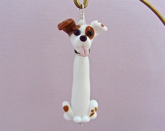 Jack Russell Ornament - Lampwork Glass Creation - SRA