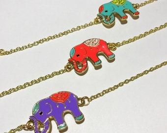 Elephant Bracelet. Best friends bracelets. Elephant jewelry. Gold jewelry. Charm bracelets.