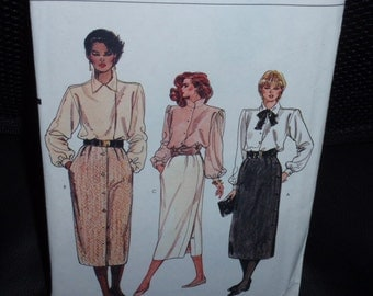Vogue 8557 Very Easy Sewing Pattern Straight Skirt  Size 8-10-12  New Uncut