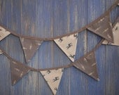 Christmas Bunting. Christmas Decorations. This lovely bunting is 3m long and made out of some gorgeous Scandinavian fabric.
