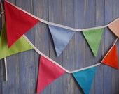 Classic Bunting. Wedding Bunting // Cotton Bunting // Kids Decor // Wedding Decor // Party Bunting // Handmade Bunting // Bright Bunting.