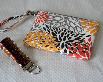Gray Wristlet, Zipper Clutch, Zipper Pouch, Boho Wristlet, Clutch Wallet, iPhone Case, iPhone Wristlet, Gifts for Her, Bridesmaids Gifts