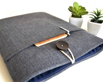 "MacBook Case, MacBook Pro Sleeve MacBook Air Case, 11"" MacBook Air Sleeve to 15.4"" MacBook Case Padded 12"" MacBook Case Herringbone"