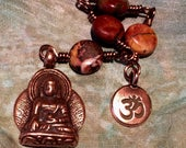 Reserved listing for Pat H. The Loving Kindness Mala in Red Creek Jasper and Copper. A fundraider for Alzheimers Research