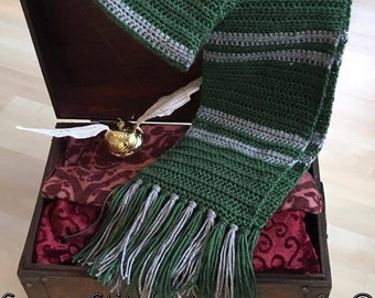 SLYTHERIN SCARF Harry Potter Inspired Newborn Baby Toddler Child Adult Photo Prop Costume Quidditch Draco Malfoy Hogwarts Cosplay Scarves