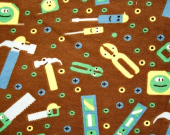 Happy Tools Cotton Knit Fabric 1/2 yd or Fat Half