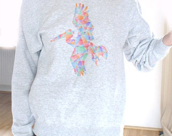 Off Shoulder Sweater Offshoulder Sweater Pelican Shirt Sweater Pelican Sweatshirt Slouchy Sweater Happy Sweatshirt Cozy Sweatshirt Oversized