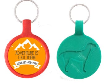 Adventure is Out There Pet ID Tag, Available in 11 Colors
