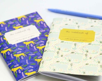 Rhino and Cheetah Pocket Notebooks, Gifts for Mom, Gifts for Paperlovers, Hostest Gifts, Journal, Cheetah Notebook, Rhino Notebook, Pocket