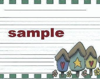 Country Birdhouses Recipe Cards ~ R22