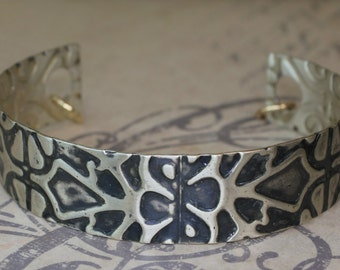 Sterling Silver Cuff Stained Glass