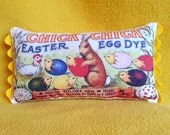 Chick-Chick Easter Egg Dye Vintage Image Pillow Bowl Filler