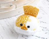Yellow Bird Pincushion Floral Pin Keep Small Pin Cushion Handmade Pincushion