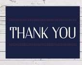 Printable Thank You Card - Typographic Dots INSTANT DOWNLOAD