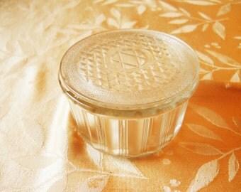 Small Glass refrigerator dish with lid kitchen storage