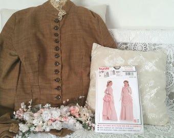 victorian costume pattern, BURDA 7880, dressmaking patterns, bustle dress pattern, victorian dress pattern, 1880s dress pattern