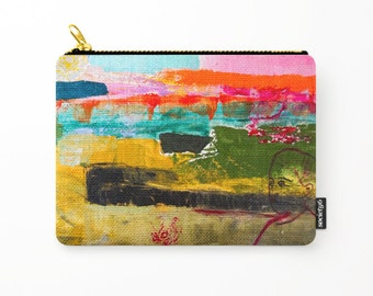Cosmetic bag, toiletry storage, makeup bag girl, beauty Pouch, pencil bag, colourful purse, anagonzalezart