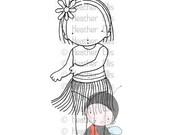 PI 098 Pure Innocence digi stamp, Hula Girl