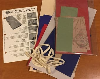 Great Glue-Free Handmade Book Kit!  - Most Supplies & Instructions! - Free US Shipping