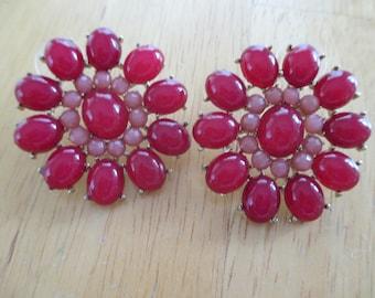 Vintage costume jewelry  / pierce earrings
