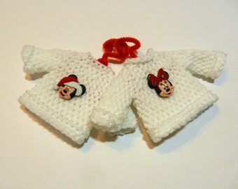 His and Hers Mouse Tiny Sweater Ornaments