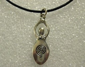 """Charge of the Goddess Necklace on 18"""" Leather Cord"""