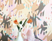 Gettin Handsy Wallpaper // Removable // Perfect for homes and rental apartments
