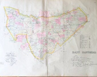 Original Chester County 1883 Farm Atlas Map East Nantmeal