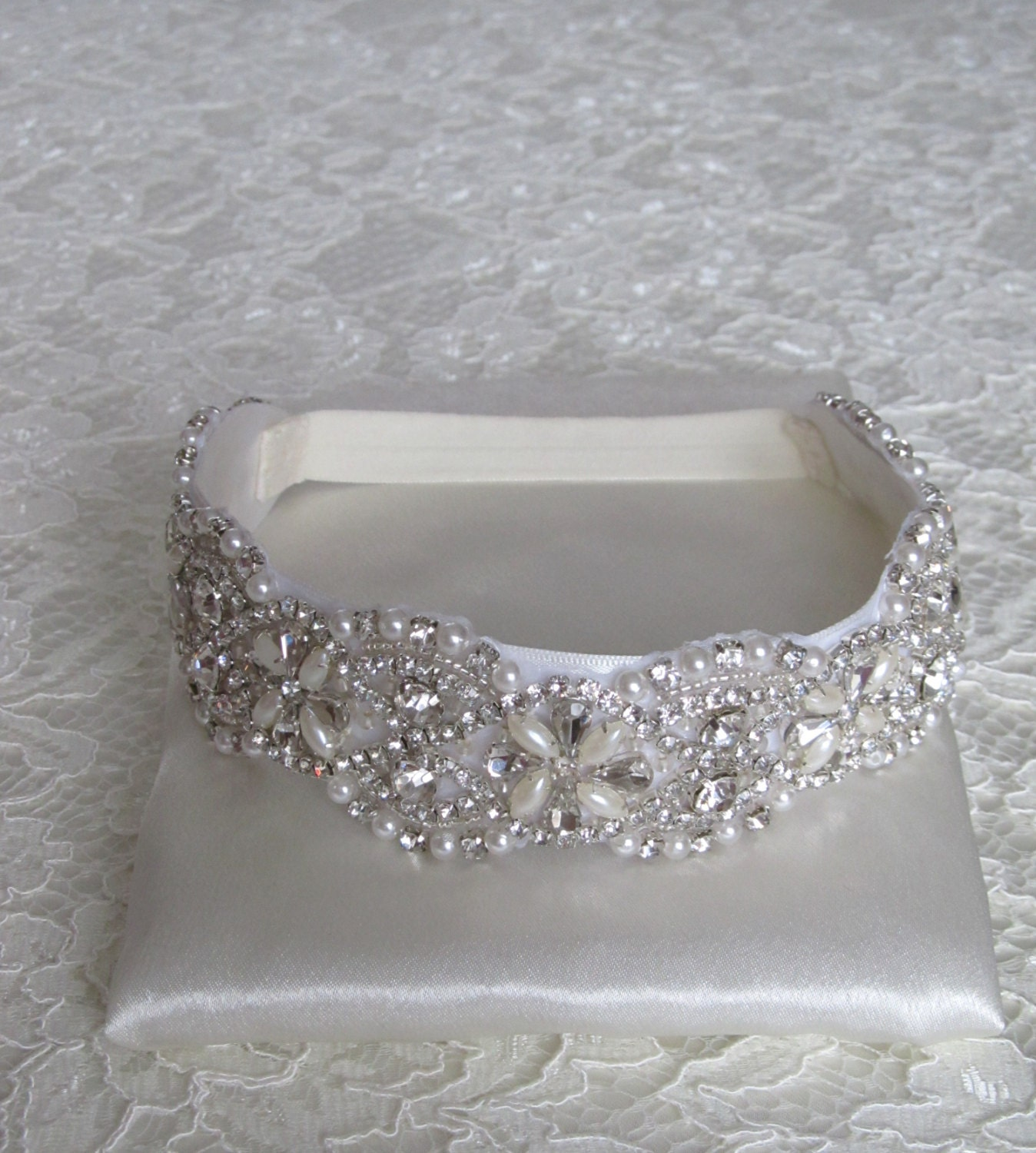 Pearl Crystal Rhinestone Bridal Garter,Wedding Garter,Bridal Accessories,Style #G3