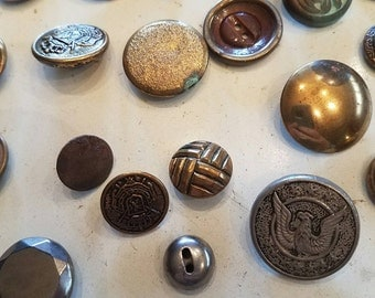 Vintage metal button lot #1