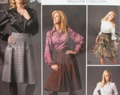 Simplicity 2758/Uncut Sewing Pattern/Misses/Women's Pleated Skirt, Half Circle Skirt, Shirt/Size 12-20/2008