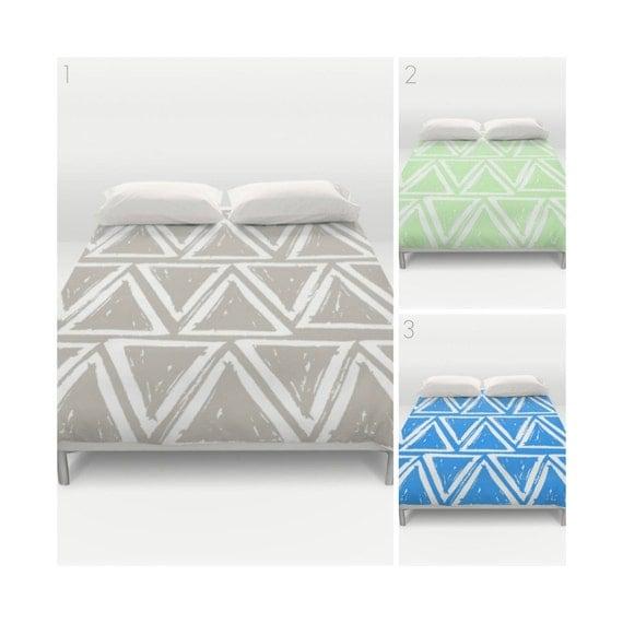 Twin XL Duvet . Modern Duvet Cover . Taupe duvet cover . Mint green duvet . queen duvet . king duvet cover . taupe bedding set . blue duvet