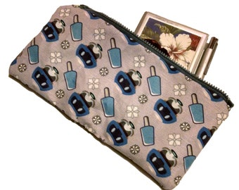 MADE TO ORDER: Mei (Overwatch) custom fabric Zipper Pouch phone accessory case purse