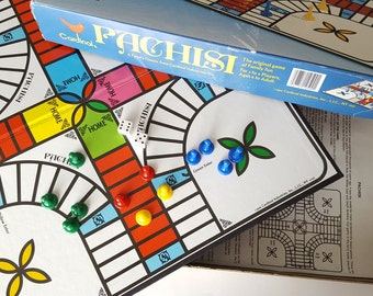 1988 Pachisi Game, Complete with Two Non-Original Pieces, Parcheesi, Family Game, Board Game, Colorful Board, Cardinal Games, Family Classic