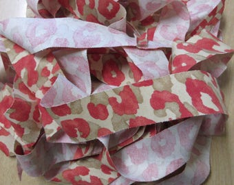 Ballard Design Sloan Coral Fabric Bias Tape, Ready Made for Piping,Priced by the Yard, Ready to Ship,You Pay Shipping.