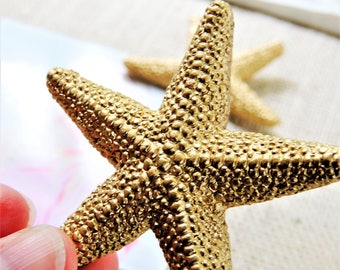 PUSH PINS Pushpins Thumbtacks Decorative Thumb Tack Cubicle Decor Cork Board Pins Starfish Gold Beach Office Supplies Decor Unique Gift Idea