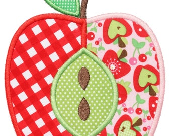 950 Apple 3 Machine Embroidery Applique Design