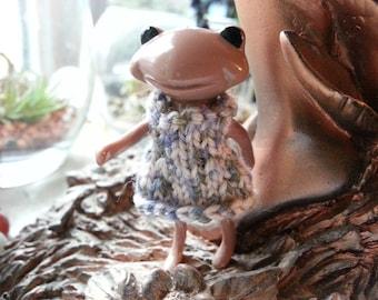 Fortune Wanda Friend Knit Dress - blue - Wanda Frog - Wonder frog